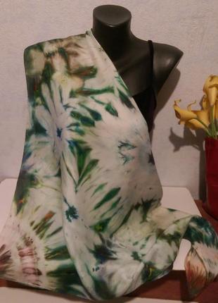 Натуральный качественный шелк,красивый батик,роуль,86*911