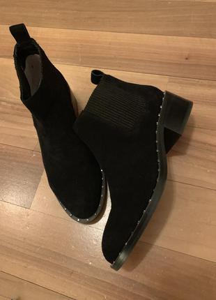 Ботинки челси натуральная замша1