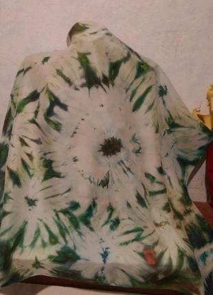 Натуральный качественный шелк,красивый батик,роуль,86*912