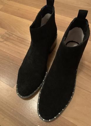 Ботинки челси натуральная замша2