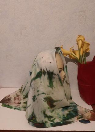 Натуральный качественный шелк,красивый батик,роуль,86*913
