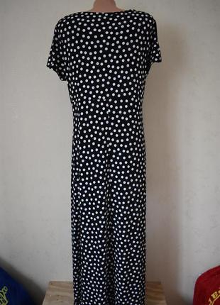 Красивое платье в горошек большого размера3