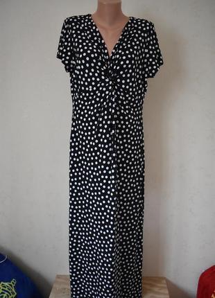 Красивое платье в горошек большого размера1