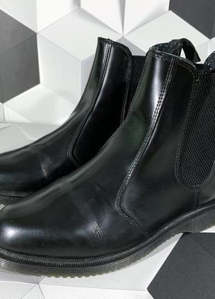Черные ботинки челси dr martens flora мартина оригинал 382