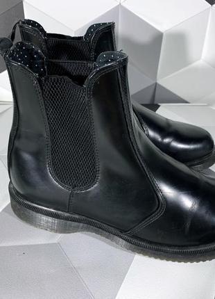 Черные ботинки челси dr martens flora мартина оригинал 381