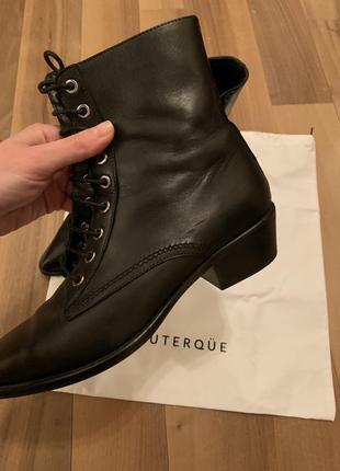 Кожаные ботинки в стиле ysl от uterque