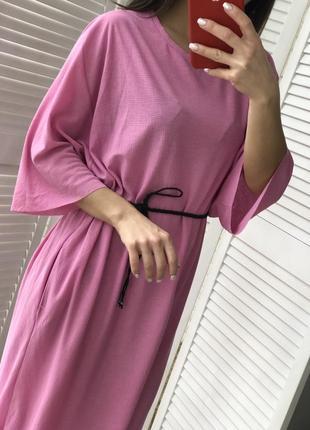 Стильное платье миди с карманами3