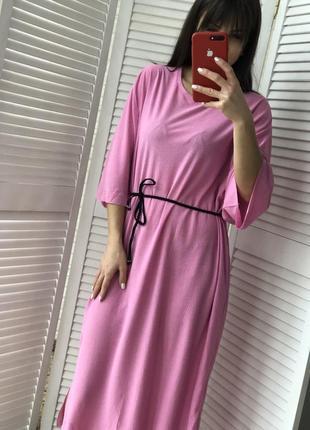 Стильное платье миди с карманами4