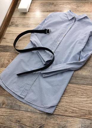 Удлиненная рубашка в полоску h&m6 фото