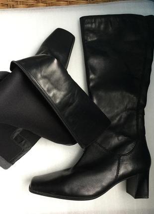 Сапоги кожаные canda c&a, деми 42-43 р.1