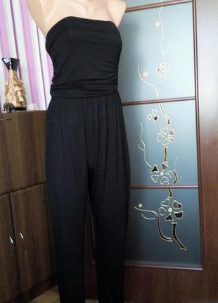 Черный брючный комбинезон топ беременным распродажа 48 размер sale new look2