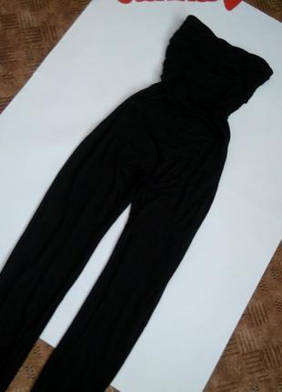 Черный брючный комбинезон топ беременным распродажа 48 размер sale new look4