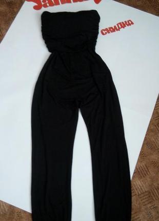 Черный брючный комбинезон топ беременным распродажа 48 размер sale new look1