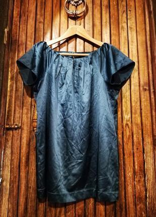 Блуза цвета морской волны атласная f&f