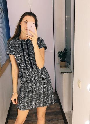 Монохромное твидовое платье dorothy perkins3