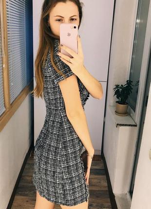Монохромное твидовое платье dorothy perkins4