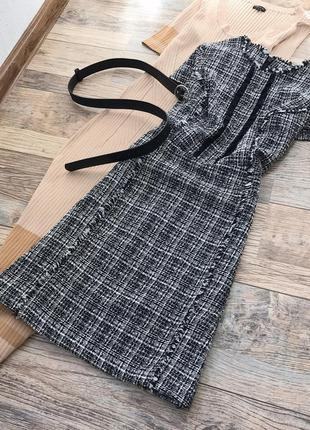 Монохромное твидовое платье dorothy perkins1