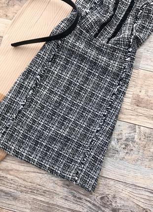 Монохромное твидовое платье dorothy perkins5