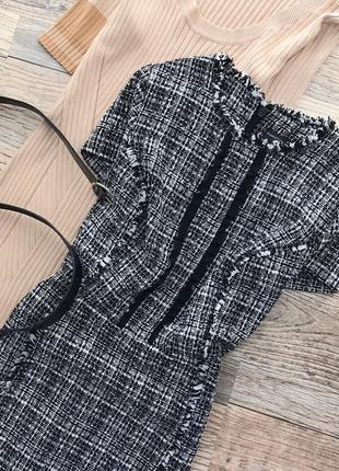 Монохромное твидовое платье dorothy perkins6