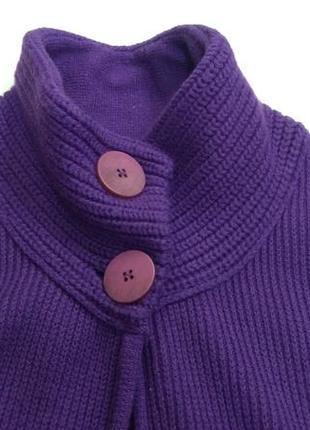 Фиолетовая вязаная никидка болеро comma размер 425 фото