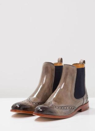 Идеальные кожаные туфли.ботинки.дерби .челси  melvin & hamilton3 фото