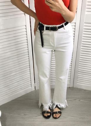Круті джинси з тороченим низом zara5