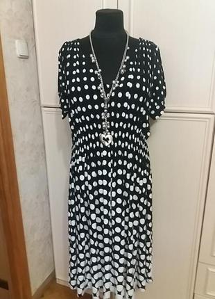 Замечательное платье в горохи next р. 54-564