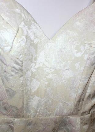 Красивое платье футляр, ткань парча - красивый перелив ткани4