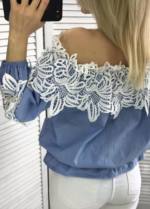 Шикарна блузка-топ з кружевом3