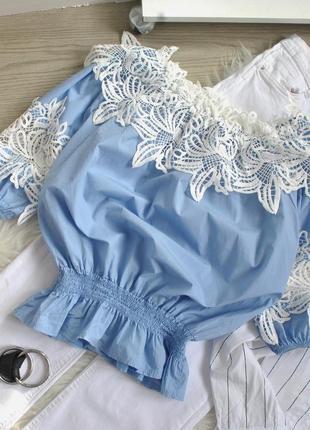 Шикарна блузка-топ з кружевом6