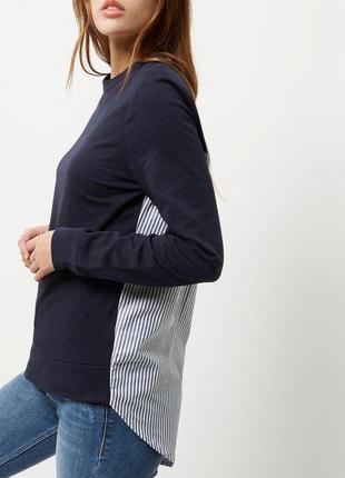 Кофта свитер худи свитшот в полоску river island1