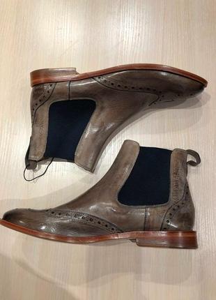 Идеальные кожаные туфли.ботинки.дерби .челси  melvin & hamilton6 фото