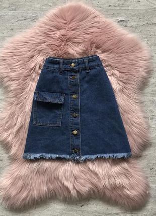 Джинсовая юбка1 фото
