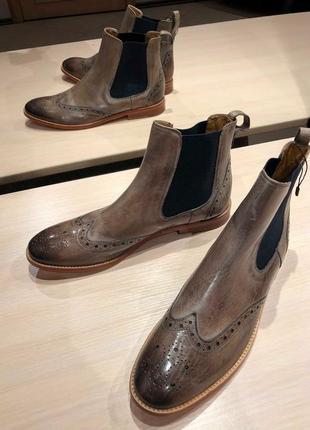 Идеальные кожаные туфли.ботинки.дерби .челси  melvin & hamilton7 фото