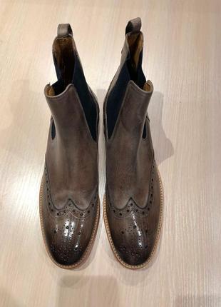 Идеальные кожаные туфли.ботинки.дерби .челси  melvin & hamilton8 фото