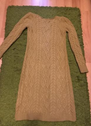 Платье-свитер миди1 фото