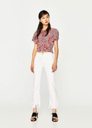 Круті джинси з тороченим низом zara9