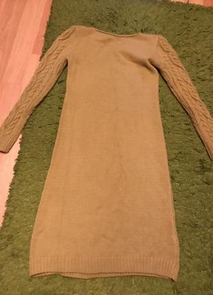 Платье-свитер миди2 фото