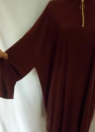 Шикарное трикотажное платье оверсайз, турция3