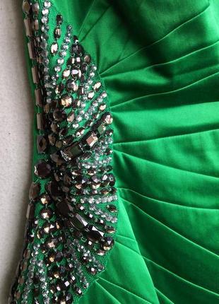 Атласное платье julien macdonald4