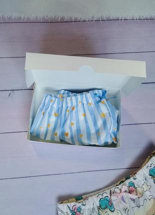 Комплект пижамных шортиков в подарочной упаковке2 фото