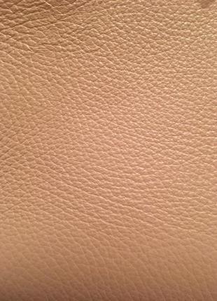 Сумка кожаная италия натуральная кожа кроссбоди пудра пудровая беж бежевая светлая шкіряна7 фото