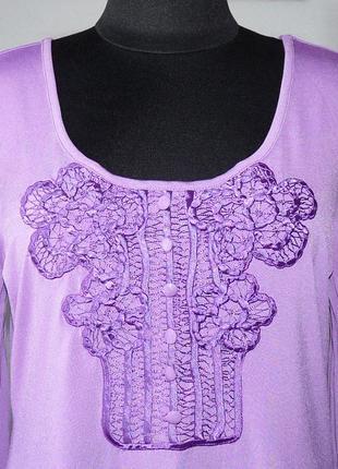 Блуза трикотажная с кружевной отделкой biba3