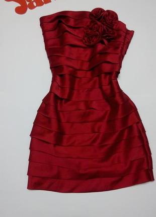Платье мини вечернее бюстье короткое красное 46 размер на выпускной glamorous3