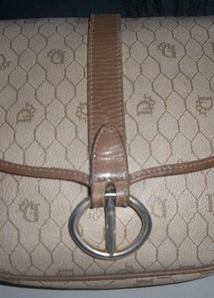 Christian dior винтажная сумка через плечо