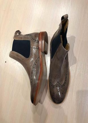 Идеальные кожаные туфли.ботинки.дерби .челси  melvin & hamilton9 фото