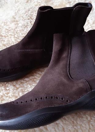 Мужские  демиезонные ботинки челси prada  оригинал