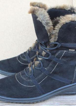 Ботинки ara gore-tex замша + текстиль зима 39р легкие и удобные1 фото