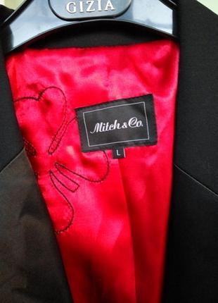 Чёрный жакет тонкая шерсть в деловом стиле m/l5