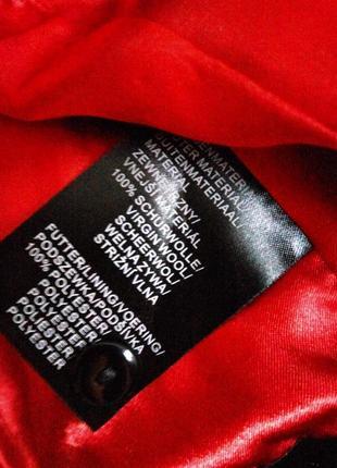 Чёрный жакет тонкая шерсть в деловом стиле m/l6